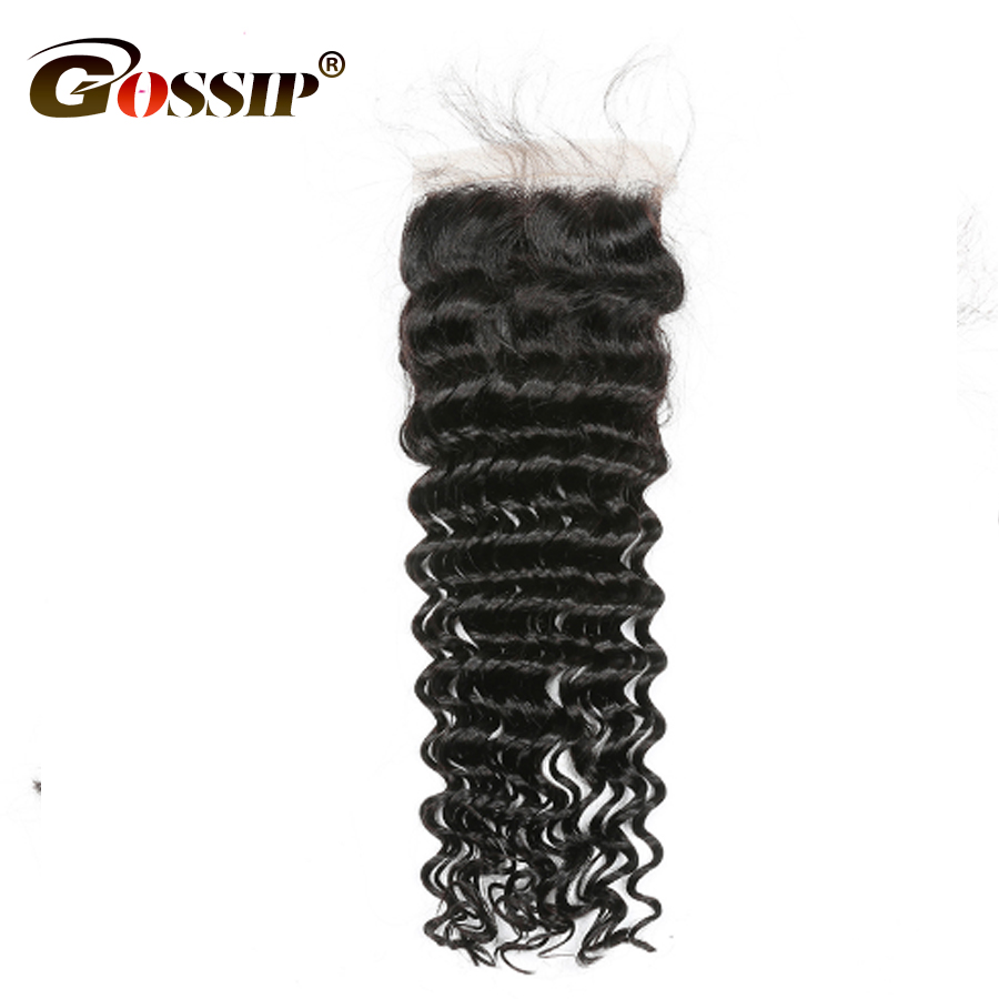 Peruvian Deep Wave 4 Bundles With Closure Peruvian Hair Weave Bundles With Closure Non Remy Human Hair Bundles With Closure