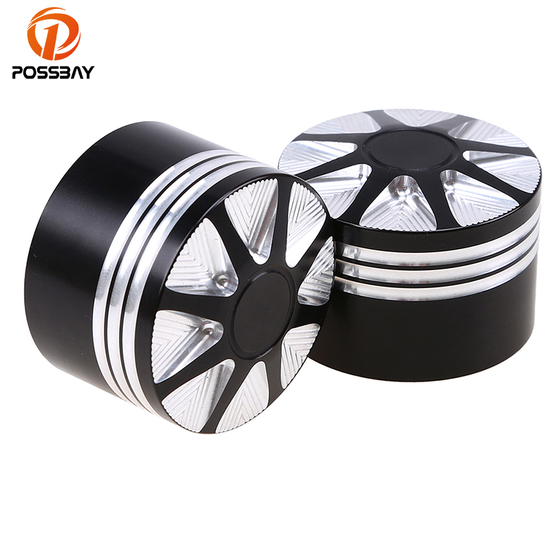 POSSBAY Motorcycle Front Axle Nut Cover Black Axle Caps Bicicleta Motorbike Parts 1.14'' 29mm For Harley Touring 2008 later Dyna tc02311010047 tc0231101004 the housing for front axle