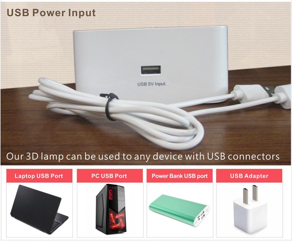 Novel USB Led Lights Loving Heart 3d Touch Home Decor Table Lamp (8)