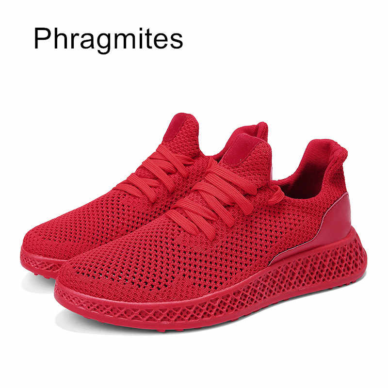 Phragmites ฤดูร้อน Breathable Unisex น้ำหนักเบาตาข่ายรองเท้าแฟชั่นกลางแจ้งเดิน Jogging รองเท้า Tenis Masculino