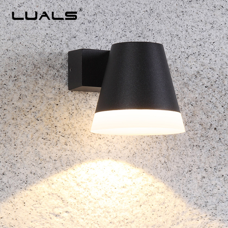 Outdoor Wall Lamp Simple Modern Wall Lamps Garden Aluminum Wall Light Luxury Home LED Lighting Waterproof Outdoor Lights Fixture outdoor wall lights simple modern wall light waterproof led wall lamp luxury villa aluminum wall lamps hallway art deco lighting