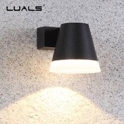 Zewnętrzna lampa ścienna proste nowoczesne lampy ścienne ogród aluminium ściany światła luksusowy dom oświetlenie LED wodoodporna światła zewnętrzne oprawa
