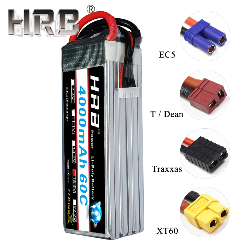HRB 5S Lipo Battery 4000mAh 18 5V T Deans Plug 60C XT60 EC5 For Helicopters Car