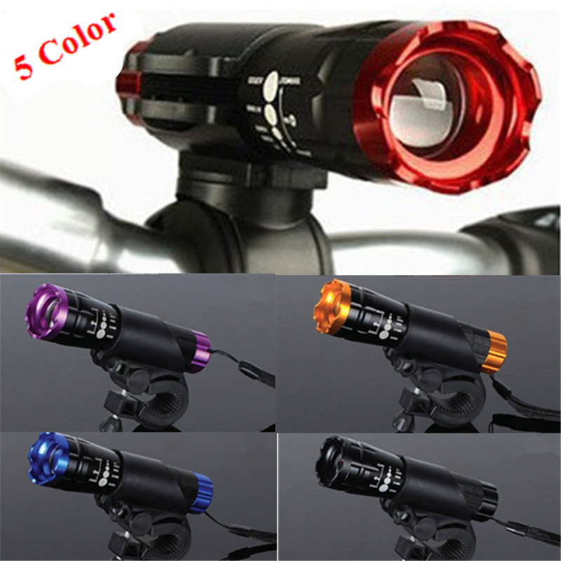 New Waterproof Bicycle Light 7 Watt 2000 Lumens 3 Mode CREE Q5 LED Bike Light Front Torch + Torch Holder Support 18650 Battery 3800 lumens cree xm l t6 5 modes led tactical flashlight torch waterproof lamp torch hunting flash light lantern for camping z93
