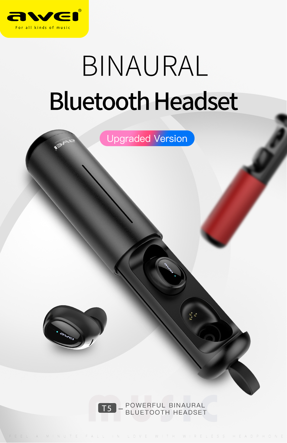 AWEI T5 Mini Ear Bluetooth best price in bangladesh