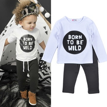boy clothing sets long sleeve pant spring autumn clothing set for boys letter long sleeve t shirt + gray pants boy clothing set