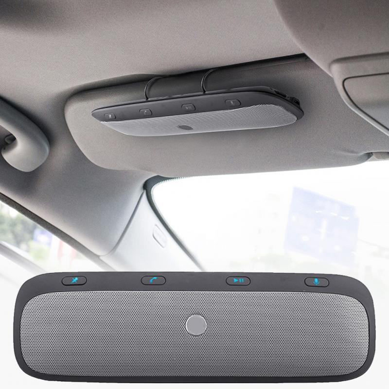 Nova TZ900 Sol viseira Multipoint Sem Fio Bluetooth Chamada Handsfree Car Kit Viva Voz Audio Speaker Música Para Smartphones