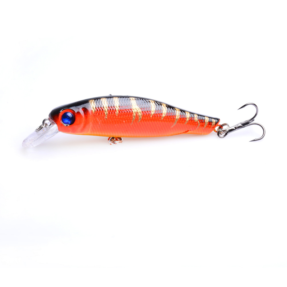 1pcs 8 5cm 8 9g 6 hooks plastic minnow fishing lures wobble bass pike peche trout fishing baits isca de pesca fishing tackles in Fishing Lures from Sports Entertainment