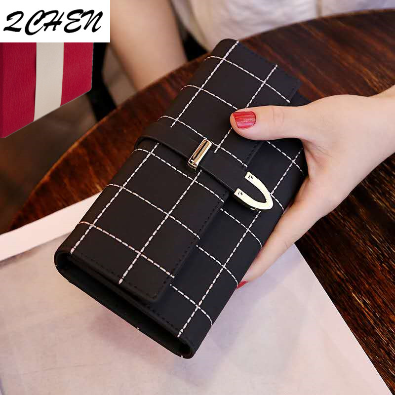 Wallets Women Long Zipper Luxury Brand Leather Coin Purses Tassel Design Clutch Lattice Female Money Bag Credit Card Holder 440