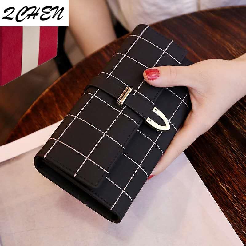 Wallets Women Long Zipper Luxury Brand Leather Coin Purses Tassel Design Clutch Lattice Female Money Bag Credit Card Holder 440