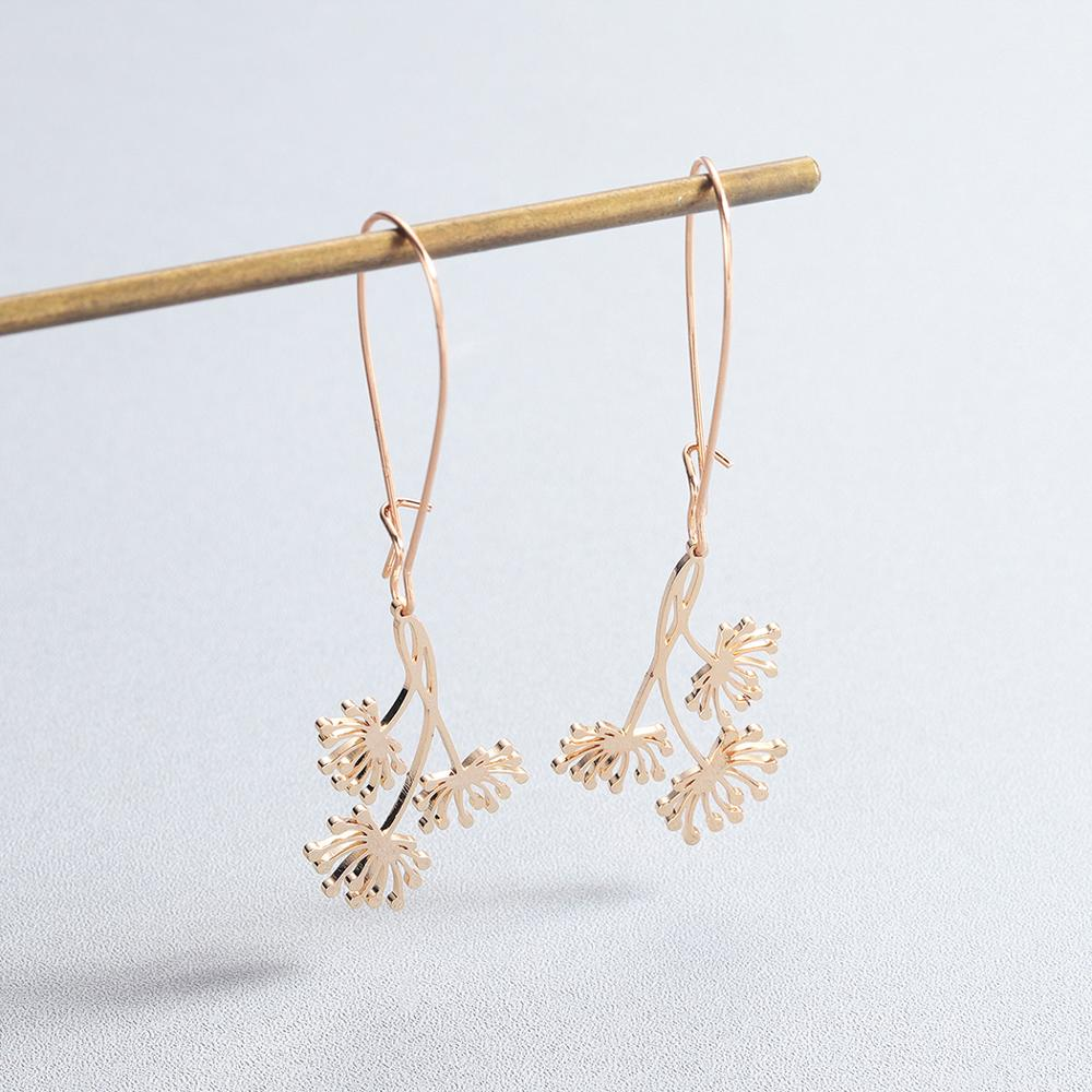 Todorova Trendy Dandelion Wishing Dangle Drop Earrings Bohemia Lucky Flower Earrings for Women Jewelry Birthday Gift