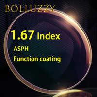 1.67 インデックス HMC ASPH 樹脂クリアレンズグリーンコート高 quanlity の光学処方クリアレンズ非球面光学レンズ