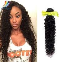 Sevengirls Deep Curly 10 A Raw Hair Natural Color 10 30 Inch 100% Human Hair Extension 1 Bundle Brazilian Virgin Hair Weaving