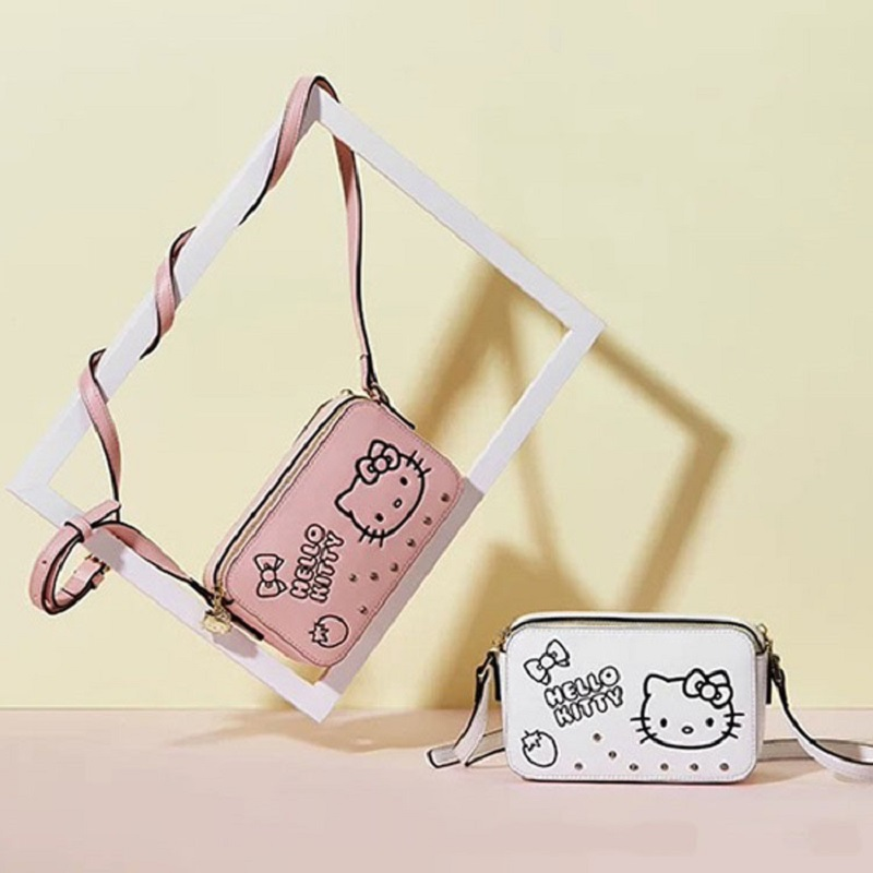 Cute Cartoon Hello Kitty Plush Bag Shoulder Girls Women Bags Kids Handbags Pu Leather Plush Backpack Best Gifts For Girl Adult With A Long Standing Reputation