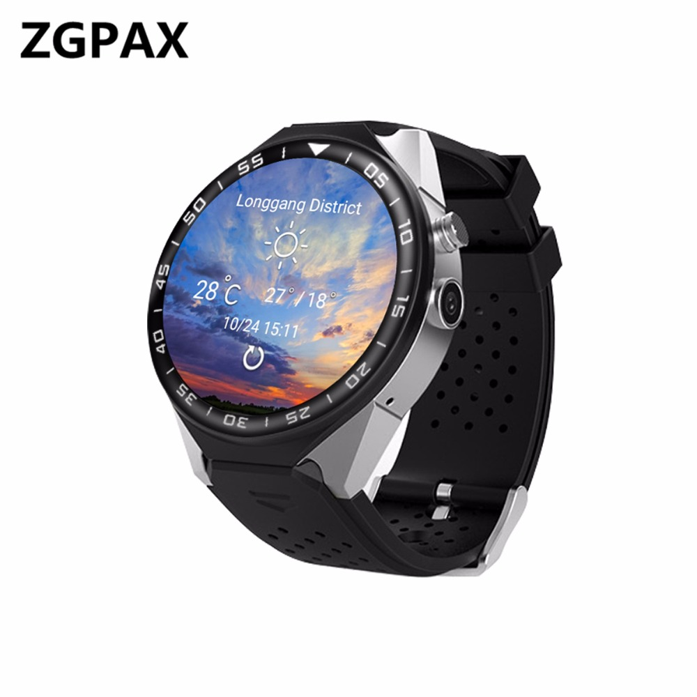 KW88+ Heart Rate SmartWatch Android phone Electronics 1.39 MTK6580 Smart Watch Support 3G Wifi gps For apple Samsung les2