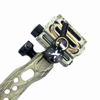 New 5 Pin Sight Fine tuning Long pole Aiming Tool for Compound Archery Bow outdoor Hunting Shooting Sports Bow Accessories