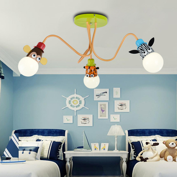 Neuheit LED Weiß Birne Decke Lichter Cartoon Tier Affe Zebra Giraffe Kinder Kinder Schlafzimmer Zimmer Lampen Hängen Pendent Licht