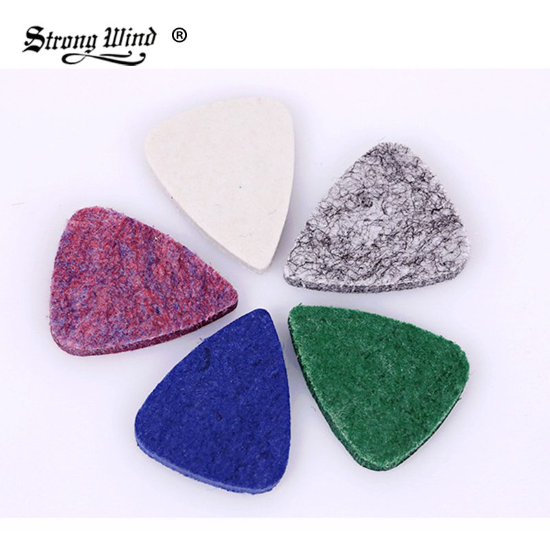 2018 New Ukulele Wool Picks Special Guitar Picks Prevent Finger Pain Comfortable Ukulele Dedicated Paddle Wool Shrapnel