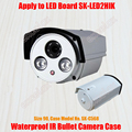 Waterproof IR Bullet Camera Casing Size 90 Aluminum Alloy Array IR LED Case IP66 CCTV Outdoor Housing Sunshield Cover by Excelax