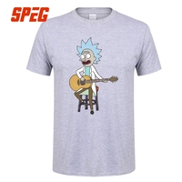 Cotton XS XXXL T Shirt Tiny Rick And Morty Guitar Music Singer Youth Round Neck Short