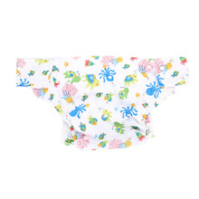 Reusable Octopus+Tortoise color PU Adult Cloth Diaper Washable Breathable Adjustable Pocket Diaper for family and nursing home