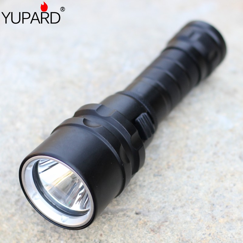 yupard XM-L2 LED T6 LED Diving diver Waterproof underwear yellow light Flashlight lamp 18650 battery camping outdoor sports