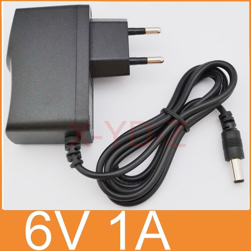 100 pièces haute qualité 6 V 1A AC 100 V 240 V convertisseur adaptateur d'alimentation à découpage DC 1000mA alimentation EU prise DC 5.5mm x 2.1mm-in Adaptateurs AC / DC from Electronique    1