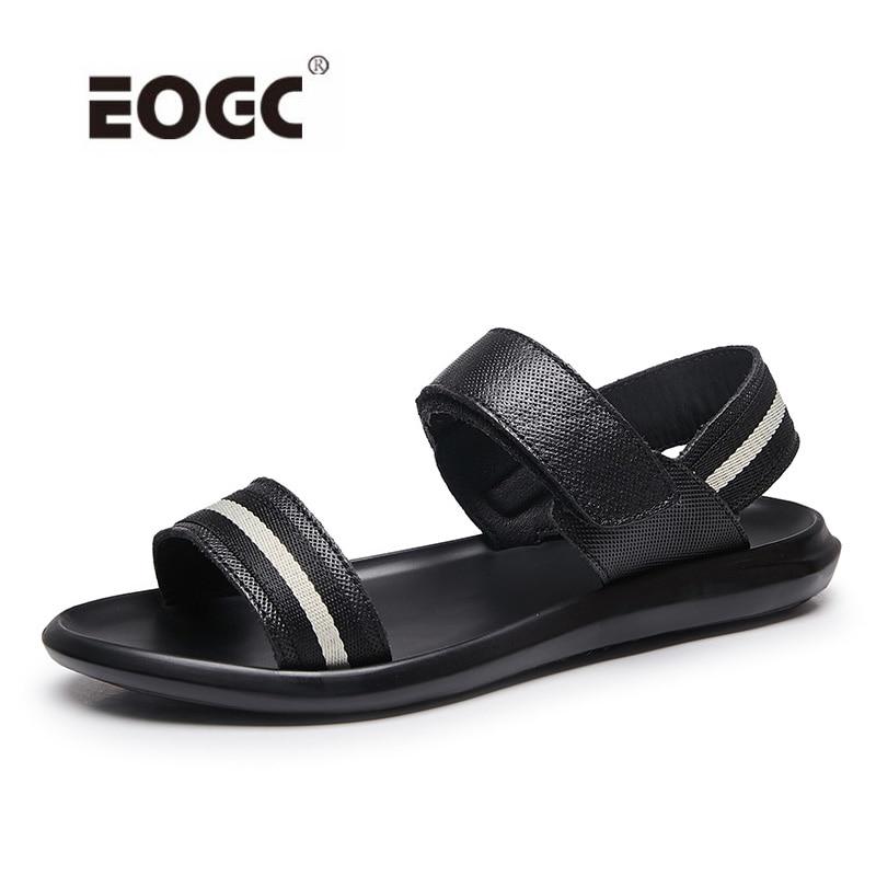 Mens Shoes Genuine Leather Men Sandals Summer Men Shoes Beach Breathable Outdoor Casual Sandals For Men Zapatillas Hombre