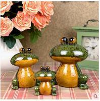 ceramic frog toad lucky home decor crafts room decoration porcelain animal figurine ceramic handicraft gift bar decor