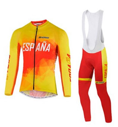 $ US $35.13 Spain Cycling Clothing Maillot bicycle clothes/ropa Cycling Jerseys Mountain Bicycle Bike Wear For Autumn Ropa Ciclismo