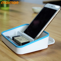 Multifunctional Office Desktop Mini Plastic Storage Box Organizer Universal Mobile Phone Holder Stand Sundries Container Case