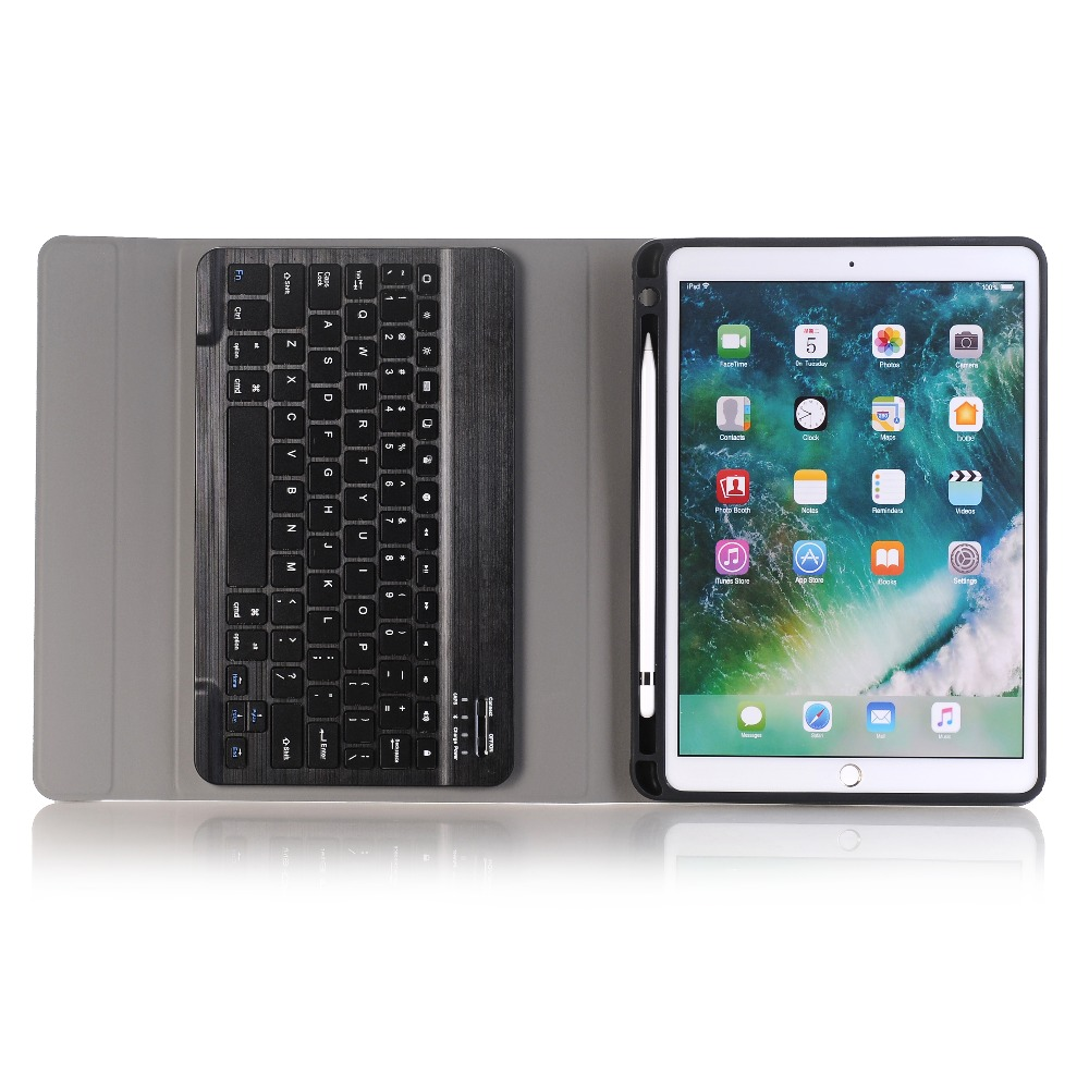 For iPad 2018 A1983 Case For iPad Air 2 Detachable WiFi Bluetooth Keyboard Leather Cover For iPad 2017 9.7 Funda+Pencil Holder