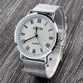 Relojes mujer 2016 Moda Relógio Das Mulheres Dos Homens de Prata de Aço Inoxidável Strap Vestido de Quartzo Relógio de Pulso Relogio masculino
