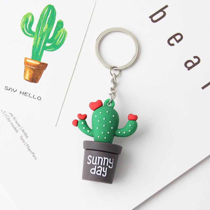 الإبداعية محاكاة مصغرة بوعاء المفاتيح الصبار الراتنج أقراط ، سيارة حقيبة اكسسوارات الرجال أو النساء حلقة رئيسية فتاة المفاتيح