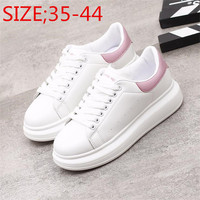 2018 Spring New Designer Wedges White Shoes Female Platform Sneakers Women Tenis Feminino Casual Female Woman Vulcanize Shoes