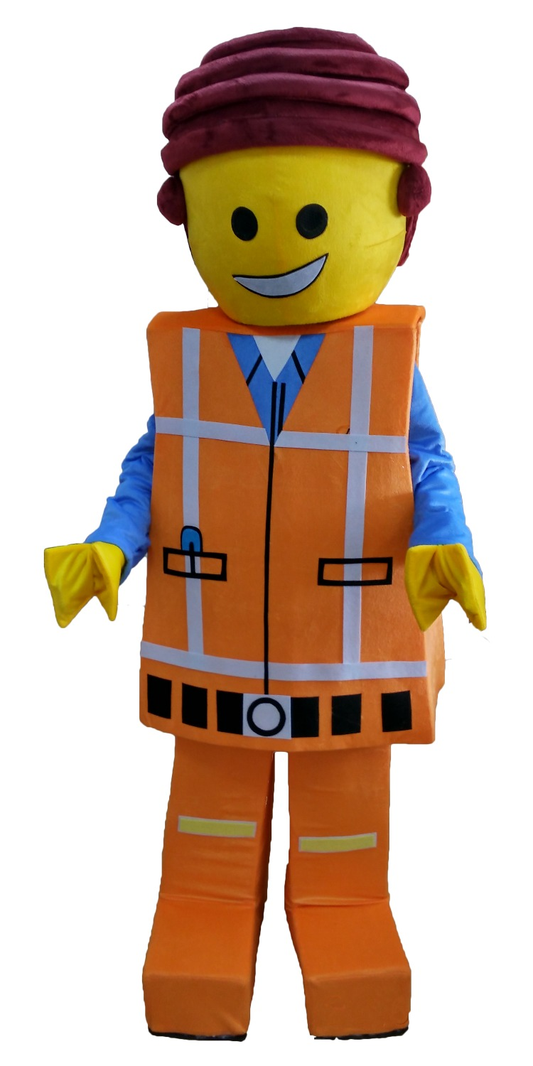 Lego Man Mascot Costume Doll Cartoon Character Cosplay Wholesale Made Carnival Costume Fancy Dress Mascot Costumes