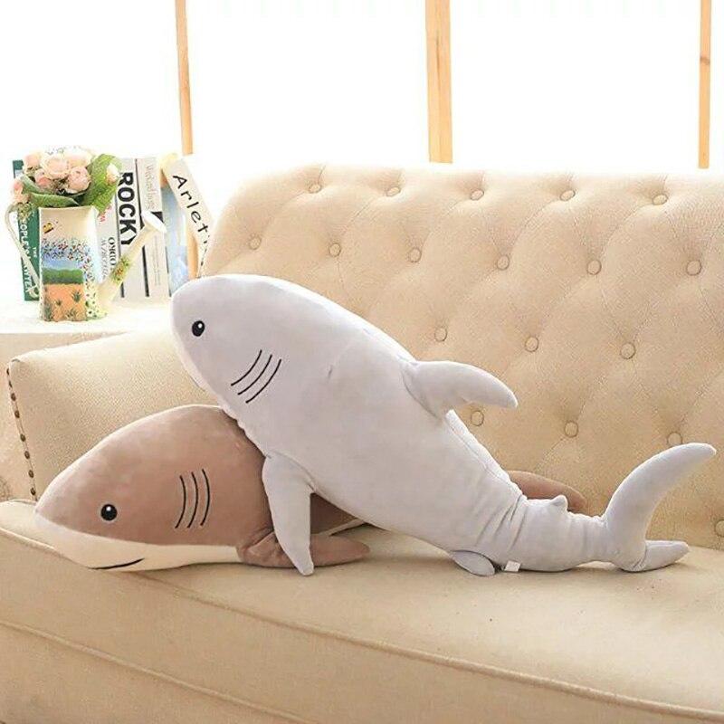 En peluche de Bande Dessinée de L'océan Requin Jouets Doux Mignon Oreiller Super Doux Animal En Peluche Requin Poupées Meilleurs Cadeaux pour les Enfants Ami Bébé 21