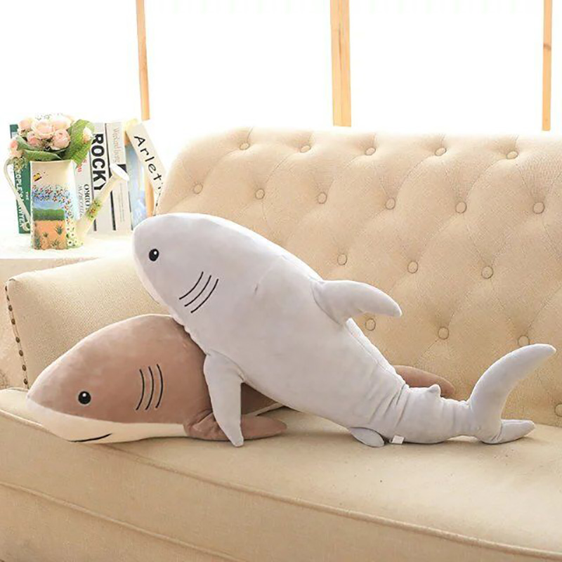 Plush Ocean Cartoon Shark Toys Soft Cute Pillow Super Soft Stuffed Animal Shark Dolls Best Gifts for Kids Friend Baby 21 ocean creatures plush crab cushion doll cute stuffed simulative toys for baby kids birthdays gifts 27 23cm 10 5 9