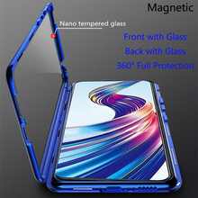 For VIVO X27 Magnetic Case Front+Back double-sided 9H Tempered Glass for vivo x27 vivox27 Metal Bumper Vivo 6.39