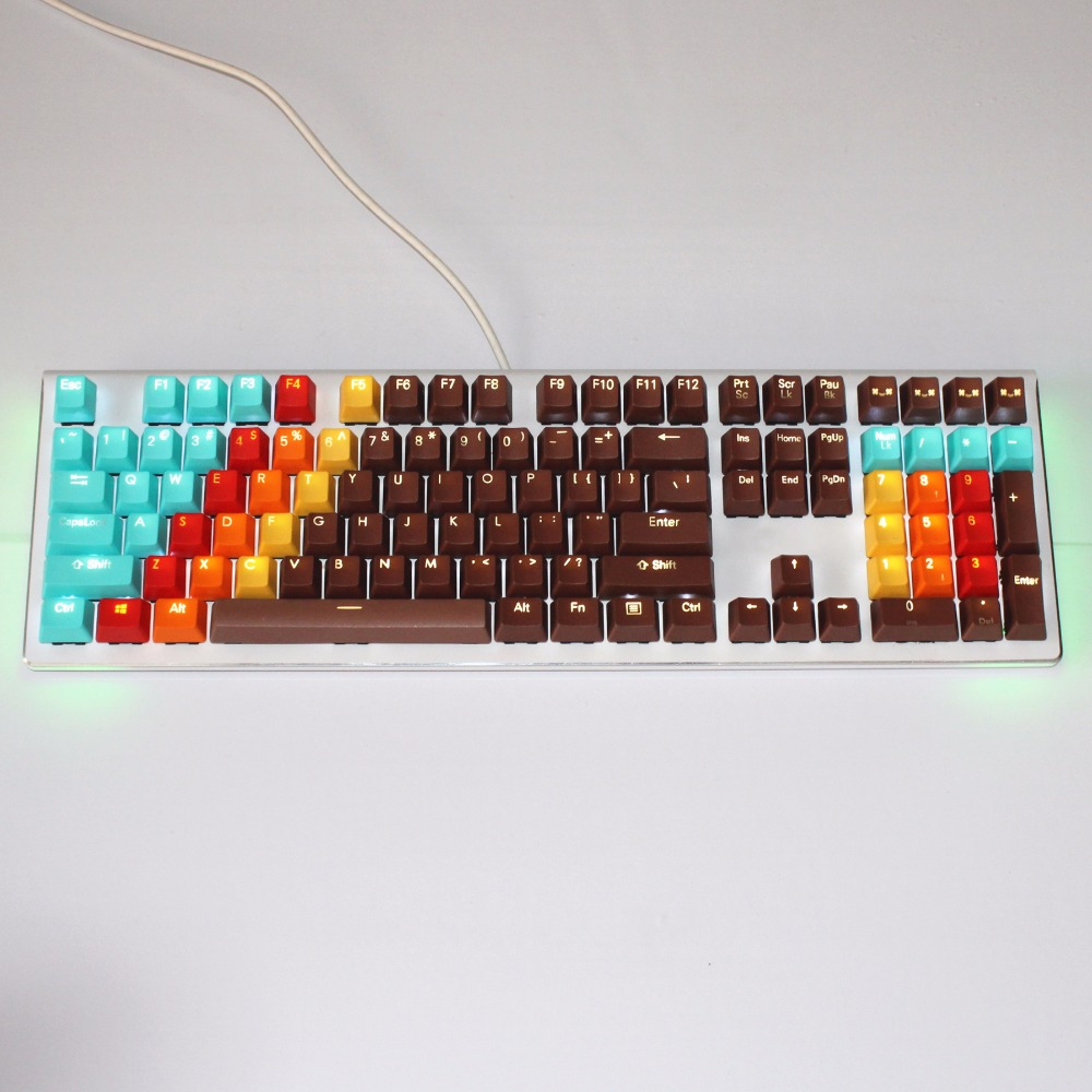 1976 keycaps 108Key Double-shot Backlight PBT keycap OEM For Cherry MX Switches Mechanical Gaming Keyboard replace Keycaps pbt keycap oem height poker 2 mechanical keyboard cherry mx switch keycaps kbt poker ii keycap multicolor keycap