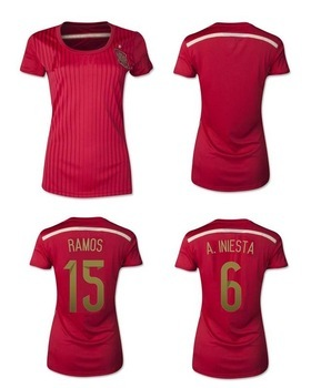 Aliexpress.com   Buy free shipping 2014 Spain Womens Jersey d80f9b4b13