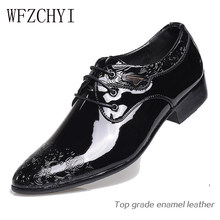 Fashion Business Men Dress Shoes 2019 New Classic Leather Men's Suits Shoes Pointed leisure Slip On Dress Shoes Men Oxfords(China)
