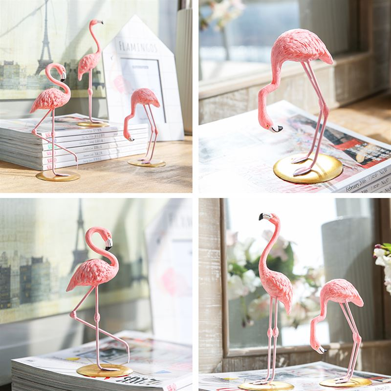 Home 1 Piece Resin Pink Flamingo Decor Figure For Ins Hot Gifts In Figurines Miniatures From Garden On Aliexpress