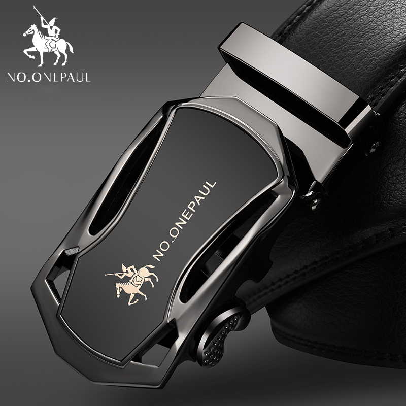 NO.ONEPAUL Business Waist Belt For Men High Quality Casual Male Waistband Men's Leather Strap Automatic Buckle Belts ZDC08