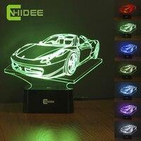 485Spider2 Car Model 3D Led Light 7 Colors RGB Night Lamp As Home Illumination Bedroom Decor