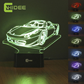 485Spider2 Car Model 3D Led Light 7 Colors RGB Night Lamp as Home Illumination Bedroom Decor Desk Table Lampara de Mesa