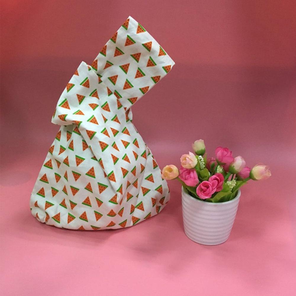 1 Pcs Japanischen Stil Knoten Handgelenk Tasche Kreative Obst Muster Handtasche Schlüssel Telefon Beutel Baumwolle Futter Tasche Geschenke Für Freund Heißer Verkauf Duftendes (In) Aroma