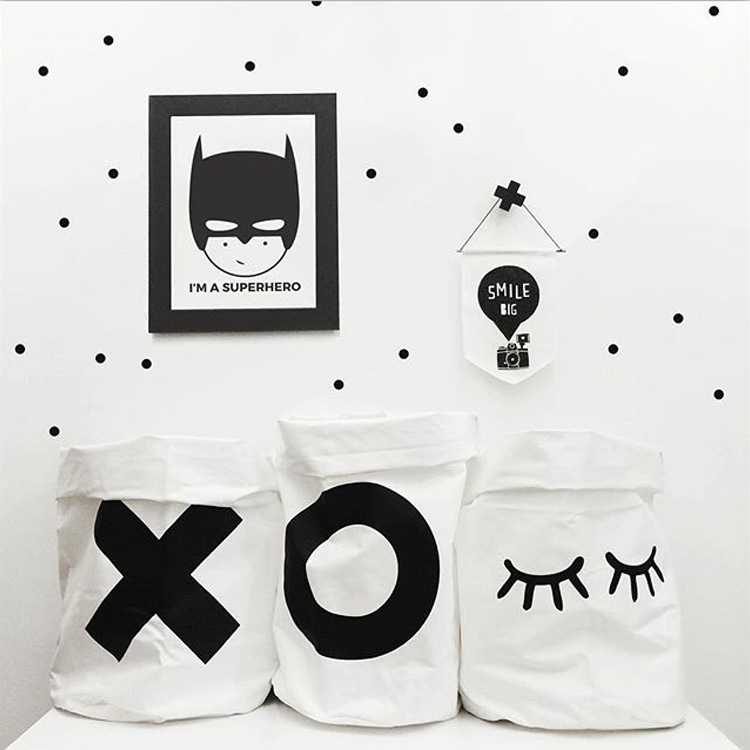New Baby Cute Letter X O rabbit Closed Eye Canvas Toys Bags Kids Wall Pocket Children Room Decor Bedroom Bags Organizaed 38*65CM