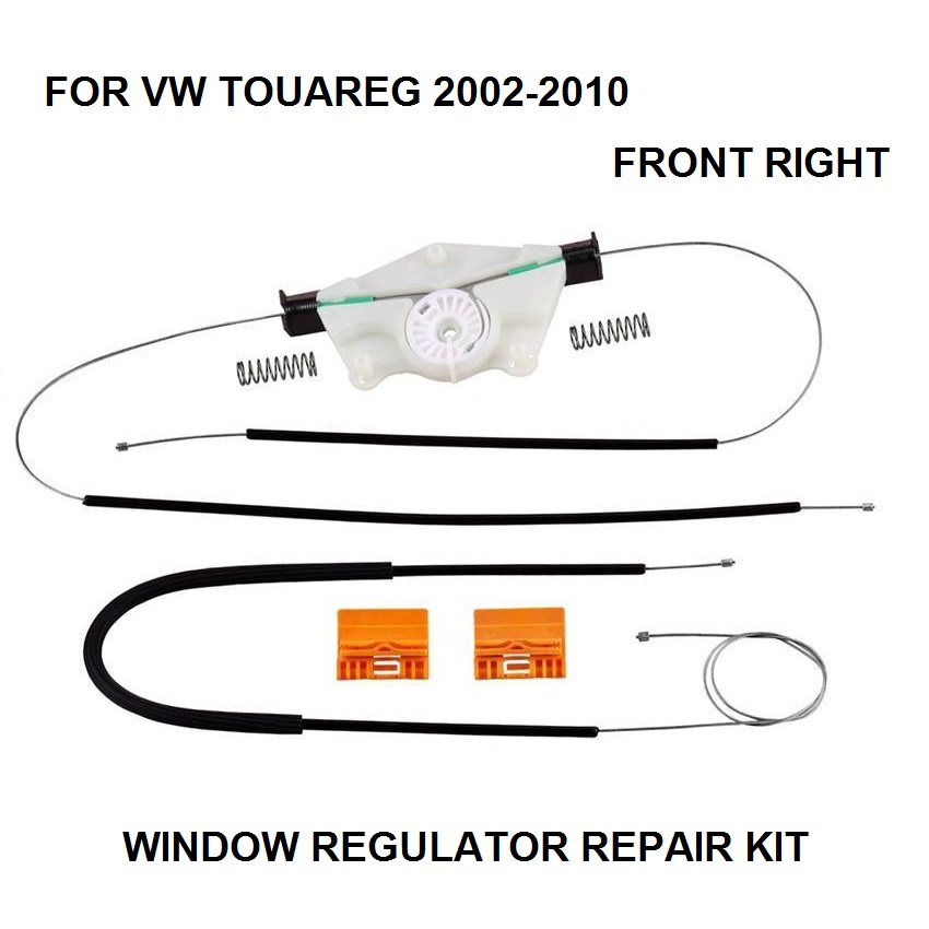 FOR VW TOUAREG WINDOW REGULATOR REPAIR KIT FRONT-RIGHT 2002-2010