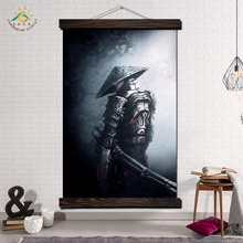 Fantasy Samurai Warriors Art Modern Wall Print Pop Posters and Prints Scroll Canvas Painting Poster Pictures